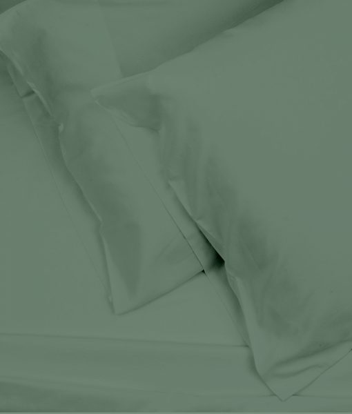 bamboo sheets sage green top shot image